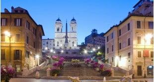 پله های اسپانیایی در رم ایتالیا