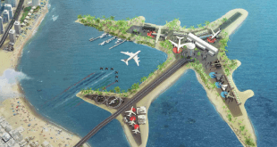 فرودگاه خاص دبی,فرودگاه خاص دبی در وسط خلیج,فرودگاه دبی,فرودگاه های دبی,فرودگاه بین المللی دبی,بزرگترین فرودگاه دنیا