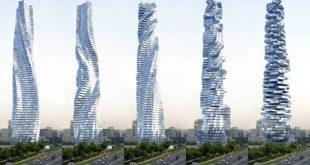 اسمان خراش چرخان دبی,برج چرخان دبی,برج چرخان داوینچی دبی,برج داینامیک دبی,آدرس برج داینامیک دبی,برج های دبی,درباره برج داینامیک دبی
