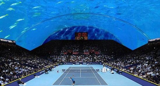 مسابقات تنیس زیر آب دبی,زمین تنیس زیر آب دبی,زمین تنیس دبی,مسابقات تنیس دبی,دیدنی های دبی,مکان های دیدنی دبی,دبی