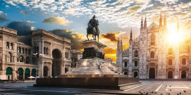 سفری به میلان در ایتالیا,میلان ایتالیا,میدان پياتزا دل دومو در میلان,كليساي سانتا ماريا دله گراتزيه در میلان,جاذبه های گردشگری میلان