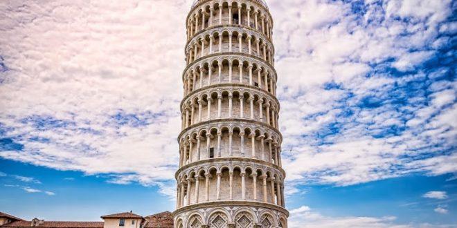 دلیل کج بودن برج پیزا, برج پیزا,ساخت برج پیزا,معماری برج پیزا,سنگ های مرمر برج پیزا,برج کج ایتالیا,ایتالیا,برج های ایتالیا,رج کج پیزا